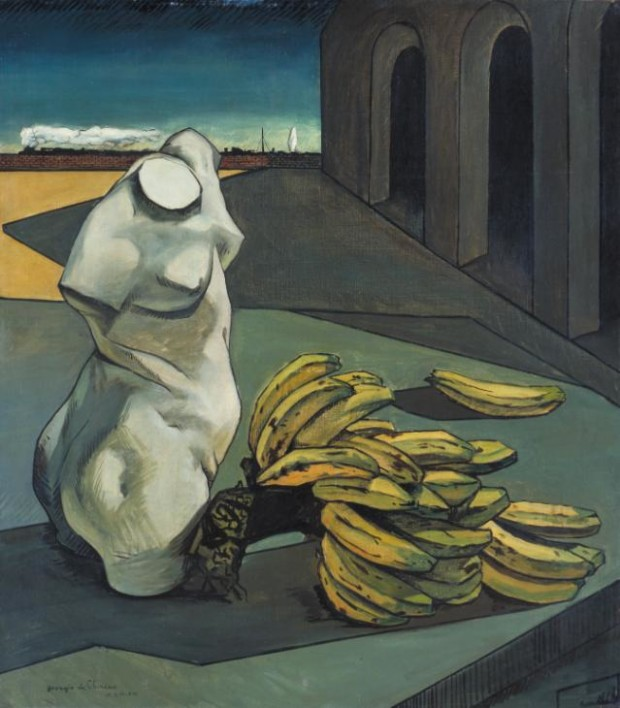 The Uncertainty of the Poet, Giorgio de Chirico, 1913, Tate Modern, London, Chirico's surrealistic eyes