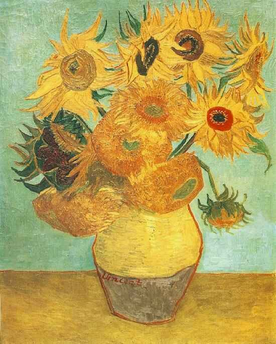 """Van Gogh Sunflowers live Van Gogh Sunflowers live """"Sunflowers"""" (1888 or 1889), from the Philadelphia Museum of Art. Credit Philadelphia Museum of Art"""