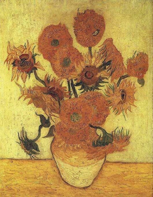 "Van Gogh Sunflowers live Van Gogh's ""Sunflowers"" (1888), at the Seiji Togo Memorial Sompo Japan Museum of Art, Tokyo. Credit Seiji Togo Memorial Sompo Japan Museum of Art, Tokyo"