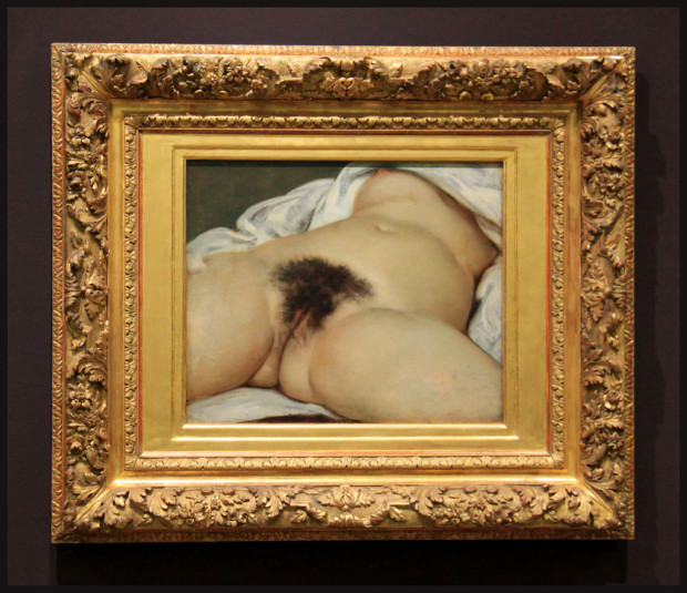 Scandalous Nudes Art Gustave Courbet, The Origin of the World,1866, Musée d'Orsay