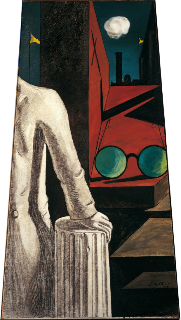 The Serenity of the Scholar, Giorgio de Chirico, 1916, Museum of Modern Art, Chirico's surrealistic eyes