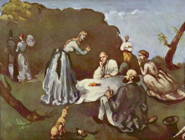 Paul Cezanne, Luncheon on the Grass, 1869, Private Collection, picnic inspirations from art