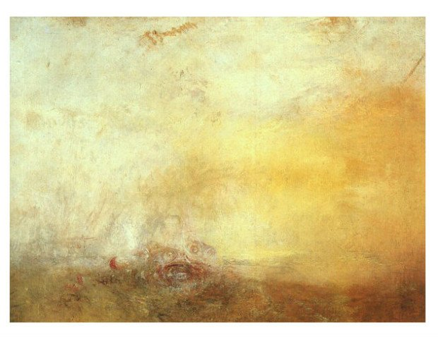 francisco goya paintings francisco goya modernist Joseph Mallord William Turner, Sunrise with Sea Monsters, c. 1845, Tate Gallery, London.
