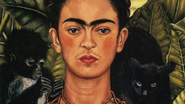 Self Portrait with Thorn Necklace and Hummingbird, Frida Kahlo, 1940