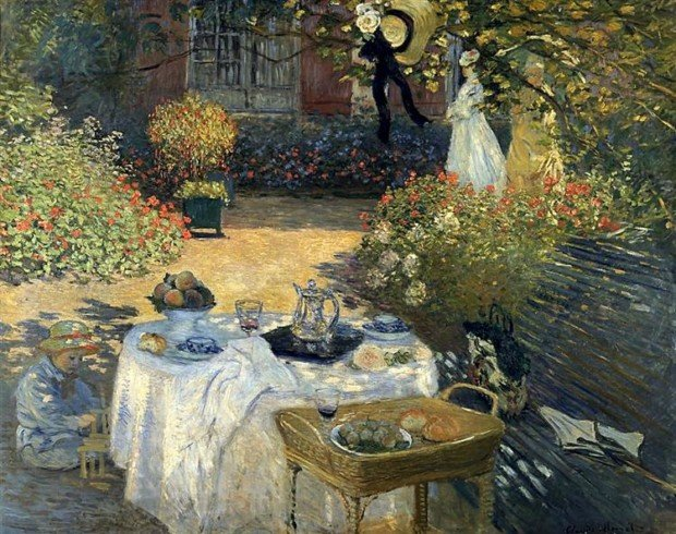 Claude Monet, The Luncheon, 1873, Musée d'Orsay, Paris, France, picnic inspirations from art