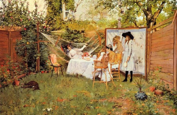 William Merritt Chase, The Open Air Breakfast, 1888, Toledo Museum of Art, Toledo, OH, US, picnic inspirations from art