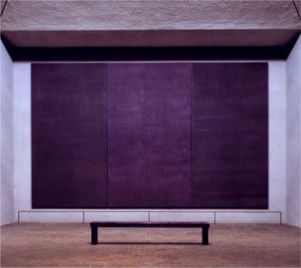 Rothko Chapel, Central Triptych
