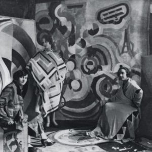 Sonia Delaunay and two friends in Robert Delaunay's studio