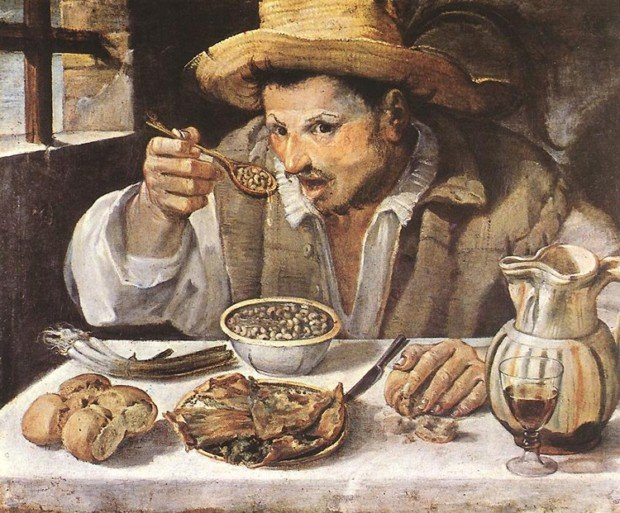 Annibale Carracci, The Bean Eater, c. 1585, Rome, Galleria Colonna, Carracci Inventor Baroque Painting