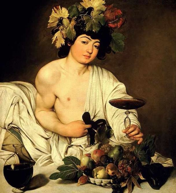 Bacchus, Caravaggio, 1595, Uffizi Gallery Museum, Florence, 5 greatest baroque painters