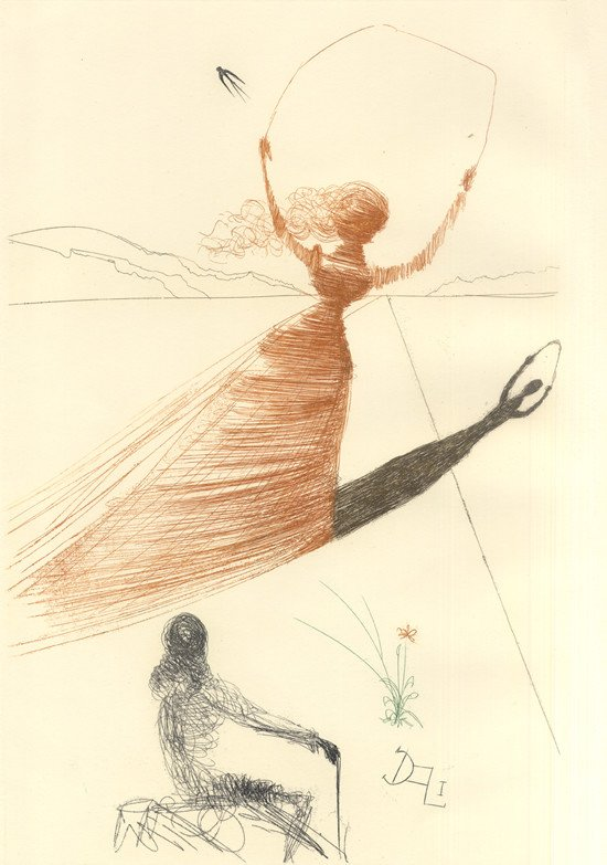 Salvador Dali, Alice Frontispiece, 1969