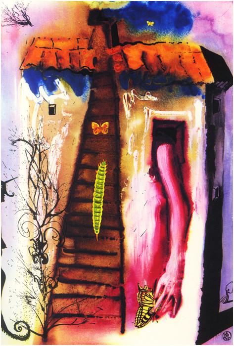 dali alice in wonderland Salvador Dali, The Rabbit Sends in a Little Bill, 1969