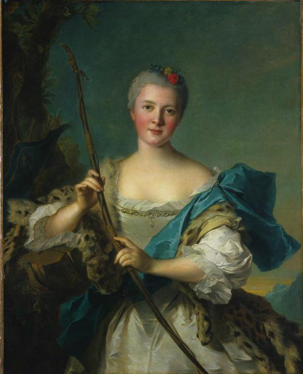 madame de pompadour portrait Jean-Marc Nattier, Madame de Pompadour as Diana, 1752, Cleveland, The Cleveland Museum of Art,madame de pompadour portraits
