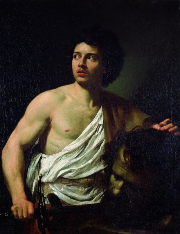 Simon Vouet (French), David with the Head of Goliath, 1620-22, Genoa, Musei di Strada Nuova