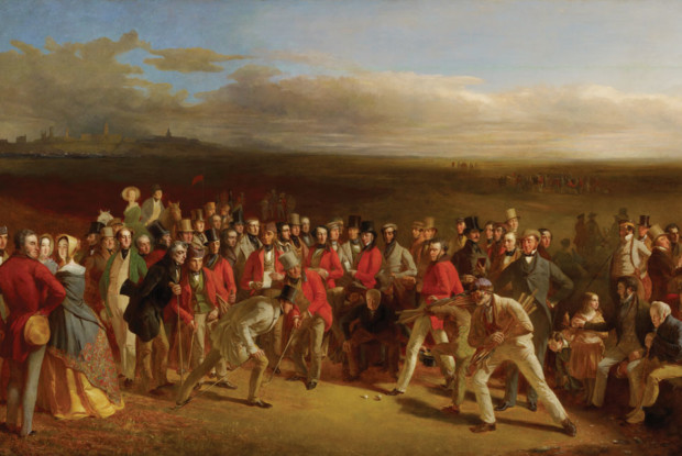 Charles Lees, The Golfers, 1847, National Galleries of Scotland, Edinburgh, golf painting