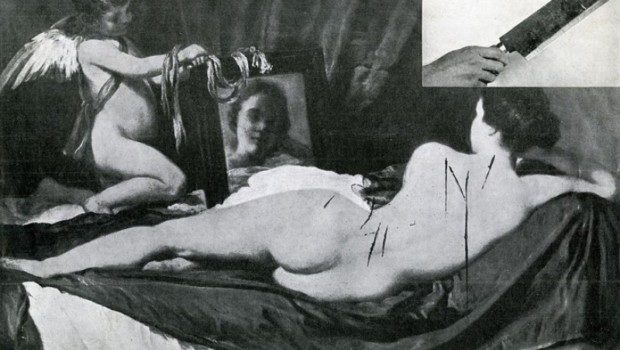 Vandalised 'Rokeby Venus', 1914