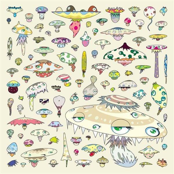 Takashi Murakami, Army of Mushrooms, 2003, private collection, mushroom art