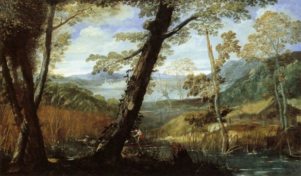 Annibale Carracci, Landscape, c. 1590, Washington DC, National Gallery of Art, Carracci Inventor Baroque Painting