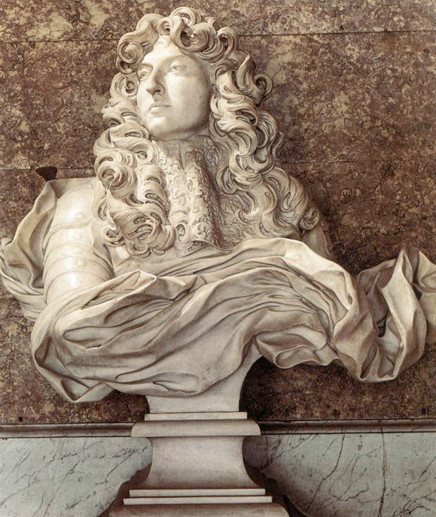 Gianlorenzo Bernini, Bust of Louis XIV, 1665, Château de Versailles, Salon of Diana , portraits louis xiv
