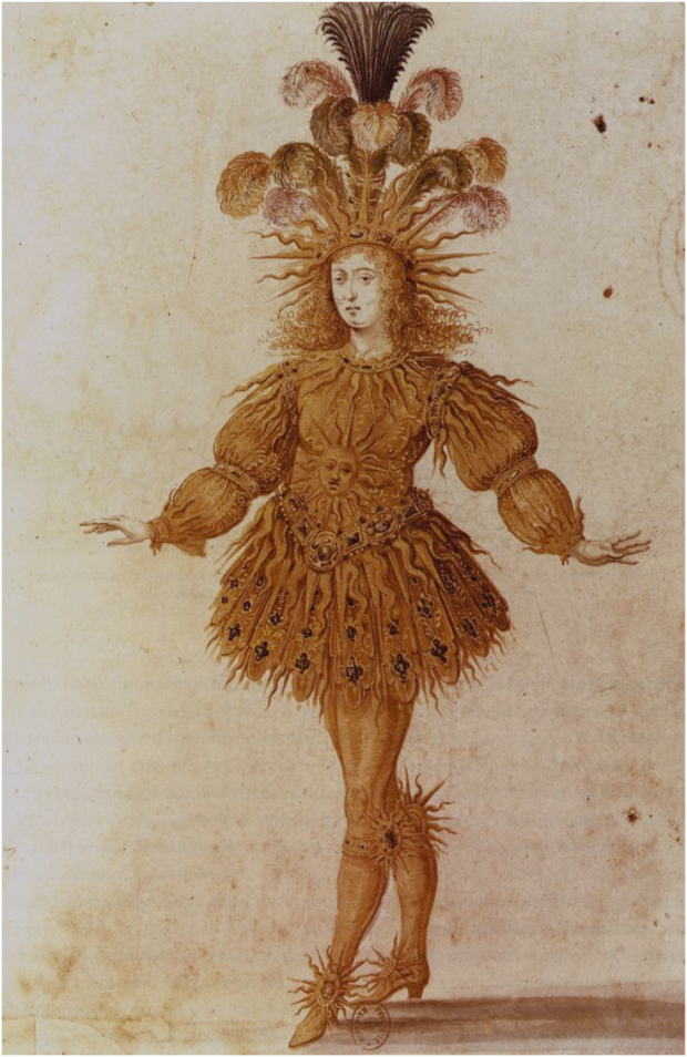 Anonymous French, Louis XIV as Apollo in the Ballet royal de la nuit (Royal Ballet of the Night), 1653, Paris, Bibliothèque Nationale., portraits louis xiv