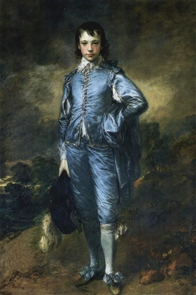 Thomas Gainsborough, The Blue Boy (Portrait of the Jonathan Buttall), 1770, Huntington Library, San Marino, CA, US, hats from painting