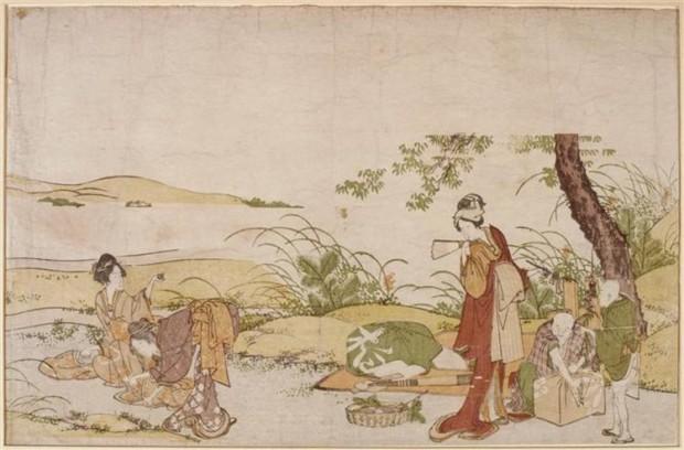 Katsushika Hokusai, The harvesting of mushrooms, Guimet Museum, Paris, France, mushroom art