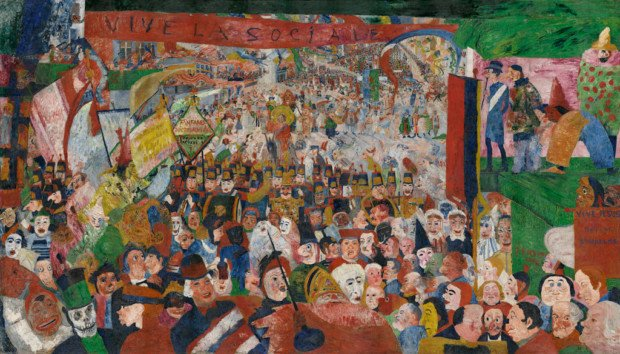 Christ's Entry Into Brussels in 1889, 1888 - James Ensor James Ensor paintings