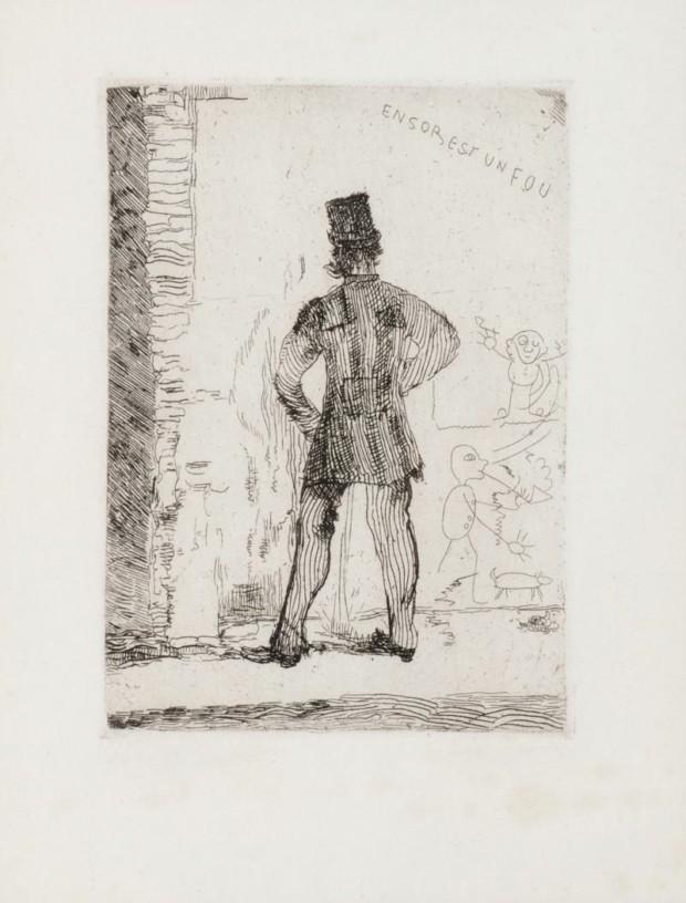 James Ensor, Le Pisseur, 1887, private collection, James Ensor paintings