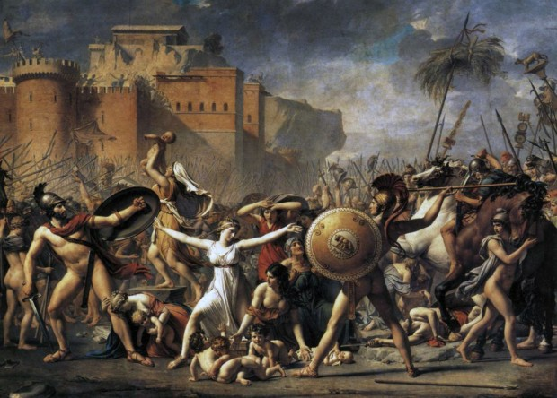 Jacques-Louis David, The Intervention of the Sabine Women, 1799, Musee du Louvre