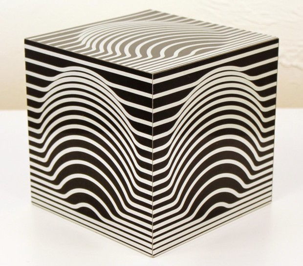 Victor Vasarely, Cube Sculpture 3