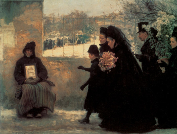 All Saints Day, Emile Friant, 1888, Musée des Beaux-Arts de Nancy, France, All Saints Day In Paintings