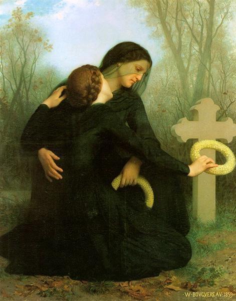 All Saints Day, William-Adolphe Bouguereau, 1859, Musée des Beaux-Arts de Bordeaux, Bordeaux, France, All Saints Day In Paintings