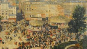 André Devambez (1867-1944) - La Place Pigalle (1906) National Museum of Fine Arts of Argentina, Buenos Aires