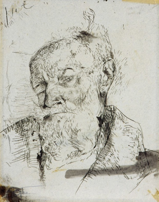 Charlotte Salomon, Portrait of her dying grandfather, 1943, Jewish Historical Museum, charlotte salomon