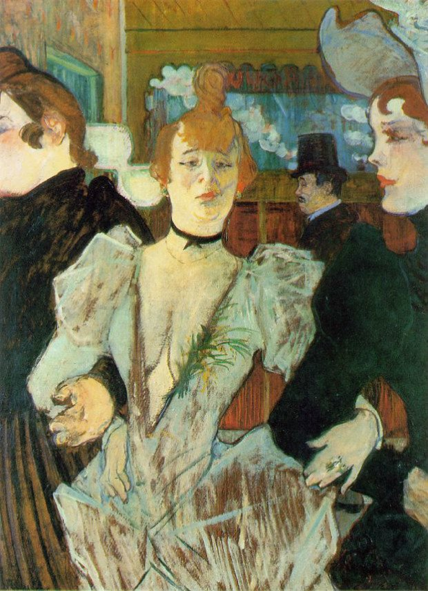 La Goulue arriving at the Moulin Rouge, Henri de Toulouse-Lautrec, 1891-92, Museum of Modern Art, New York, Montmartre - the Home to Many Inspirations