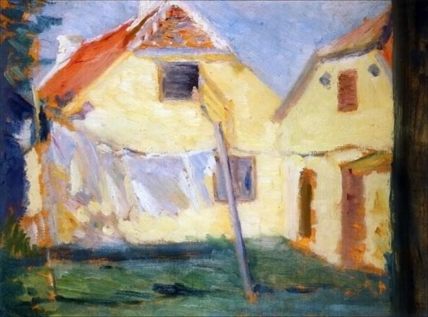 Laundry, Marie Krøyer, 1891-1894, Skagens Museum, Denmark, Marie and Peder Severin Krøyer