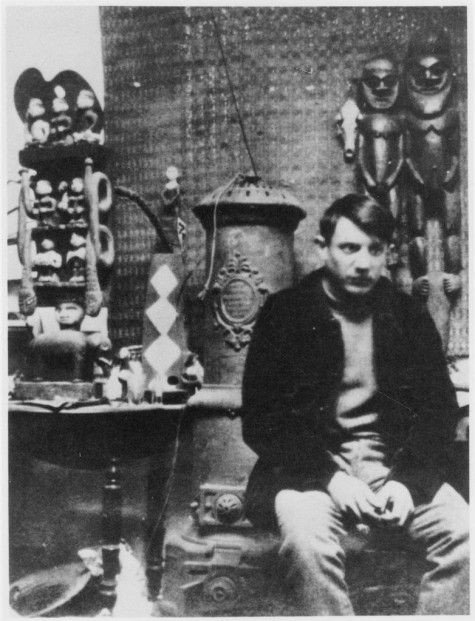 Pablo Picasso in his studio in Le Bateu-Lavoir, 1900, Montmartre - the Home to Many Inspirations