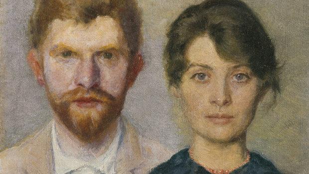 Portrait of a Married Couple, Peder Severin Krøyer, 1890, Skagens Museum, Denmark, Marie Triepcke Krøyer Alfvén and Peder Severin Krøyer