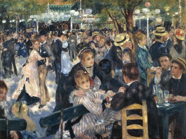 Bal du moulin de la Galette, Pierre-Auguste Renoir, 1876, Musée d'Orsay, Paris, Montmartre - the Home to Many Inspirations