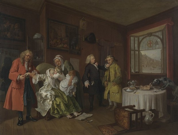 The Lady's Death, William Hogarth, 1743, National Gallery, London, William Hogarth – Marriage à-la-mode
