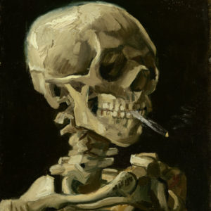 "Vincent van Gogh, ""Head of a skeleton with a burning cigarette,"" 1886, Van Gogh Museum"