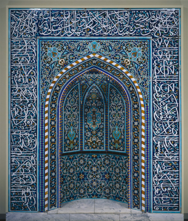 Mihrab, early 1600s, Iran, Isfahan, Cleveland Museum of Art, art of mihrab