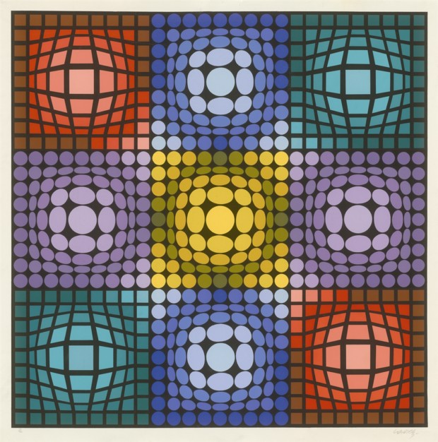 Victor Vasarely, Dyevat, Park West Gallery Collection