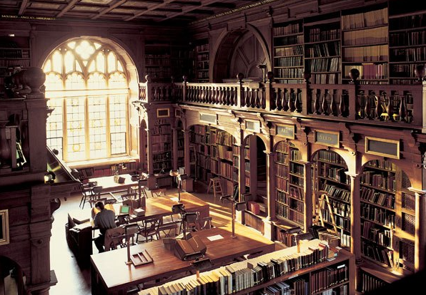 Bodleian Library, University of Oxford, UK. Source: Goodreads, most beautiful libraries