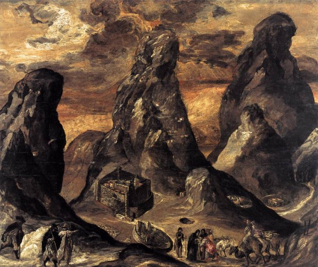 El Greco, Mount Sinai (1570), Historical Museum of Crete, Hereaclion, Greece , influence of El Greco on expressionism