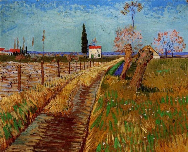 Vincent van Gogh, Path Through a Field with Willows, 1888, Private Collection, paths from art