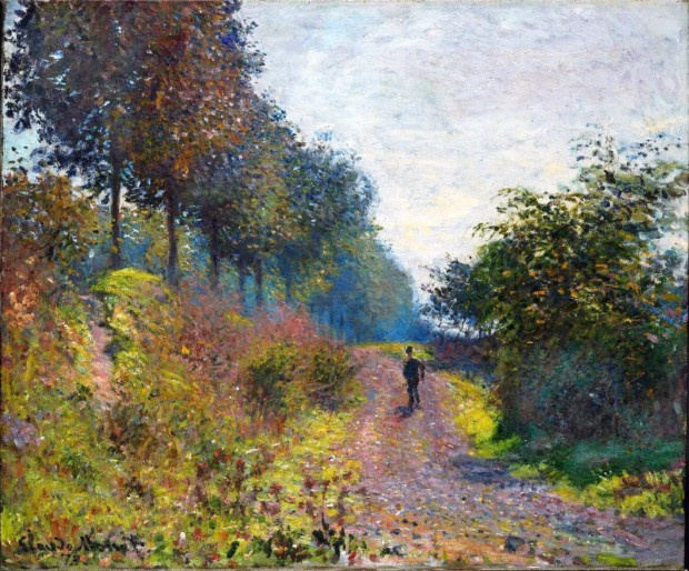 Claude Monet, The Sheltered Path, 1873, private collection, path