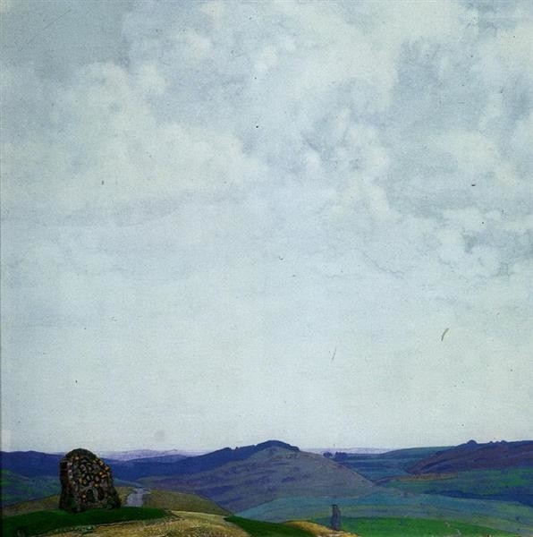 Nicholas Roerich, The straight path, 1912, Nizhny Novgorod State Museum of Fine Arts , Russia, paths from art