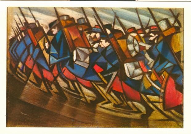 © Marching Men, 1916 IWM (Art.IWM ART 5218) CRW Nevinson's war art