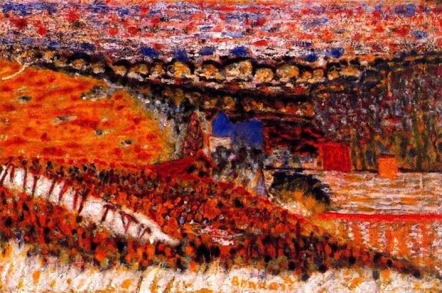 autumn paintings by famous artists Pierre Bonnard, Autumn View, 1912, private collection